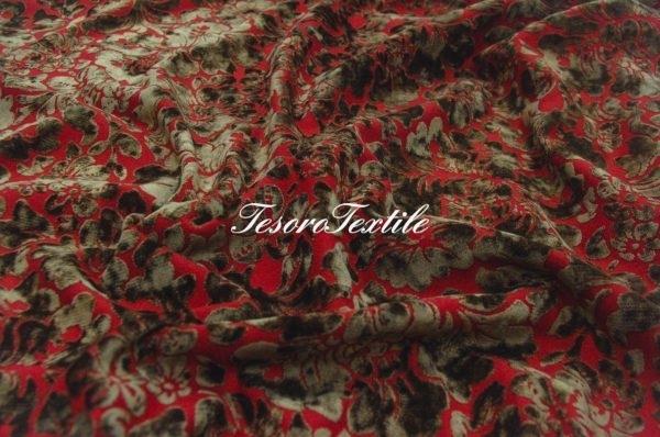 Ткань для штор Пан-бархат ILLUSTRE цвет красный