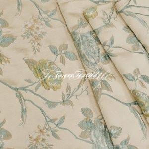 Ткань для штор Жаккард FIORI цвет голубой