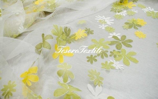 Ткань для штор Органза CASA DEL VELO цвет зеленый