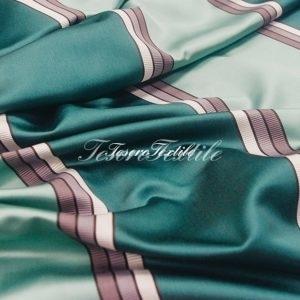 Портьерная ткань ILLUSTRE цвет изумрудная