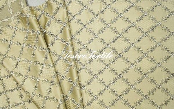 Ткань для штор Атлас JARDIN цвет молочный