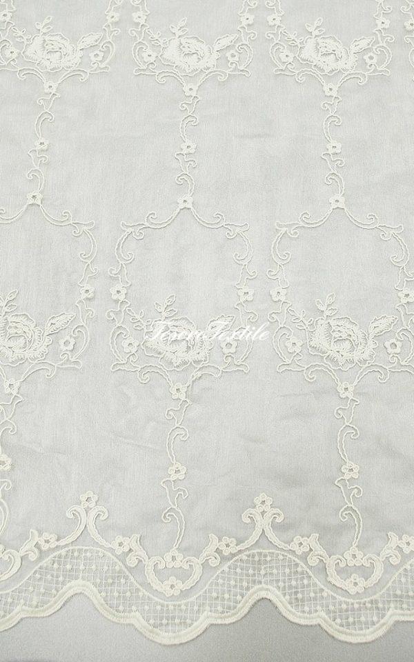 Ткань для штор Вуаль FIORI цвет бежевый