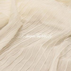 Ткань для штор Полувуаль FIORI цвет молочный