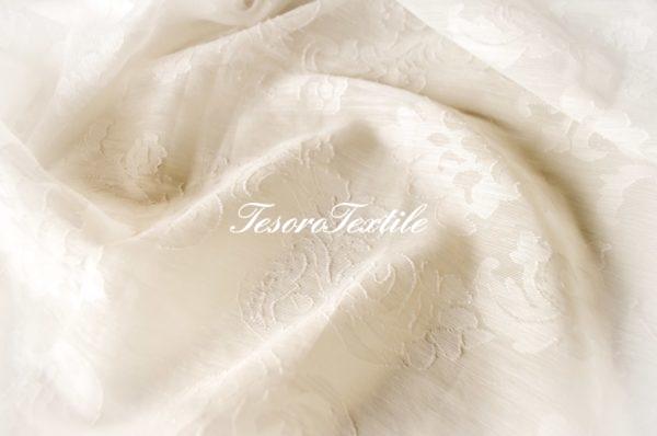 Ткань для штор Вуаль lEAF & FLOWER цвет молочный