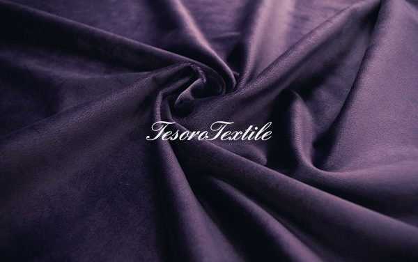 Ткань для штор Бархат VELOURS цвет серо-фиолетовый