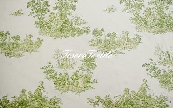 Портьерная ткань GELIN GARDEN цвет зеленый