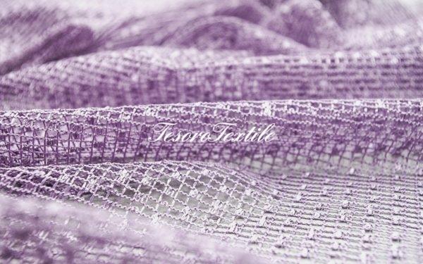 Ткань для штор Вуаль CASA DEL VELO цвет сиреневый