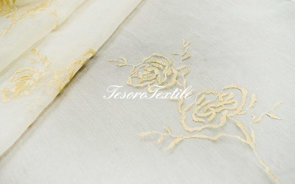 Ткань для штор Органза CASA DEL VELO цвет золотой