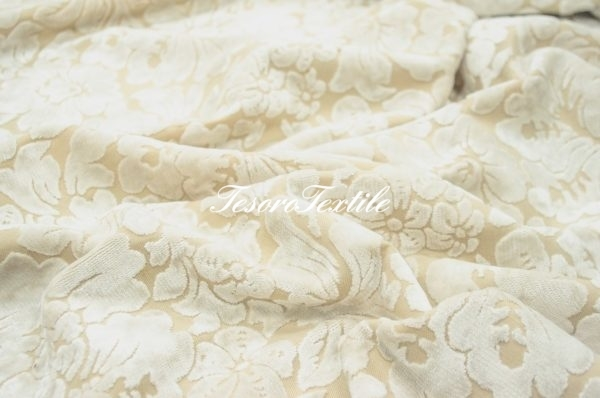 Ткань для штор Пан-бархат ILLUSTRE цвет молочный