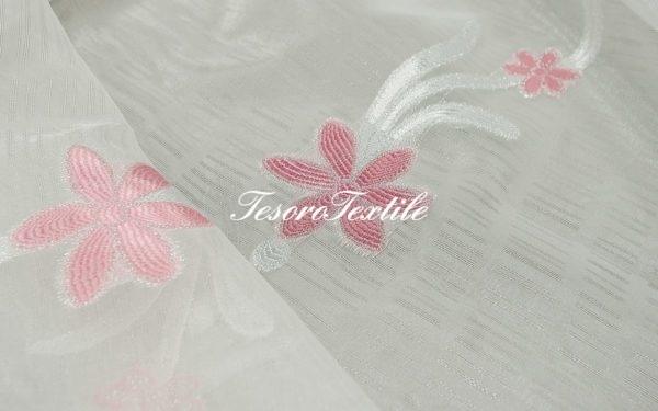 Ткань для штор Вуаль CASA DEL VELO цвет розовый