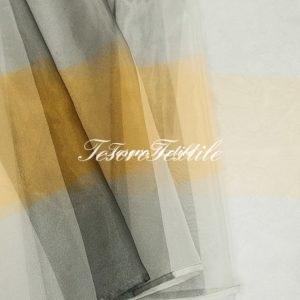 Ткань для штор Органза CASA DEL VELO цвет рыжий с серым