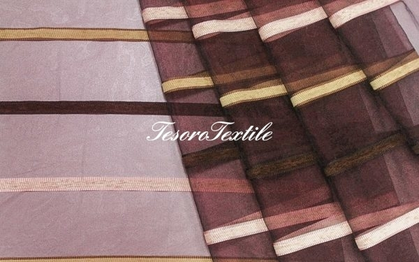 Ткань для штор Органза CASA DEL VELO цвет бордовый