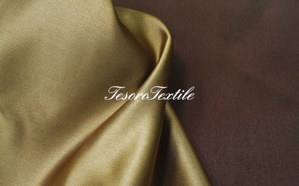Ткань для штор Атлас JARDIN цвет шоколадный