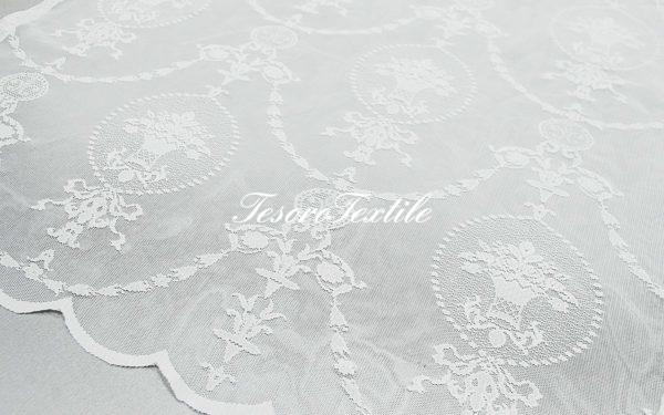 Ткань для штор Вуаль FIORI цвет белый