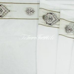 Ткань для штор Вуаль CASA DEL VELO цвет белый с коричневым