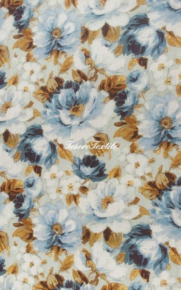 Портьерная ткань SCANDINA цвет голубой