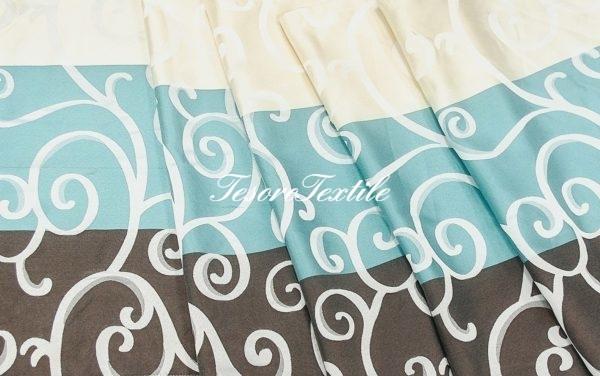 Портьерная ткань CASA DEL VELO цвет мультиколор бирюзовый