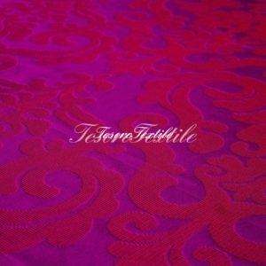 Ткань для штор Жаккард ILLUSTRE цвет лиловый с красным
