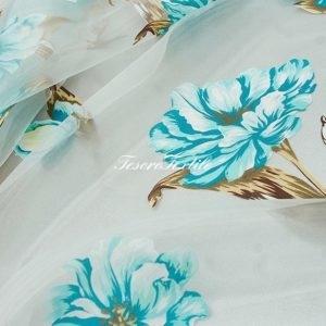 Ткань для штор Органза CASA DEL VELO цвет голубой