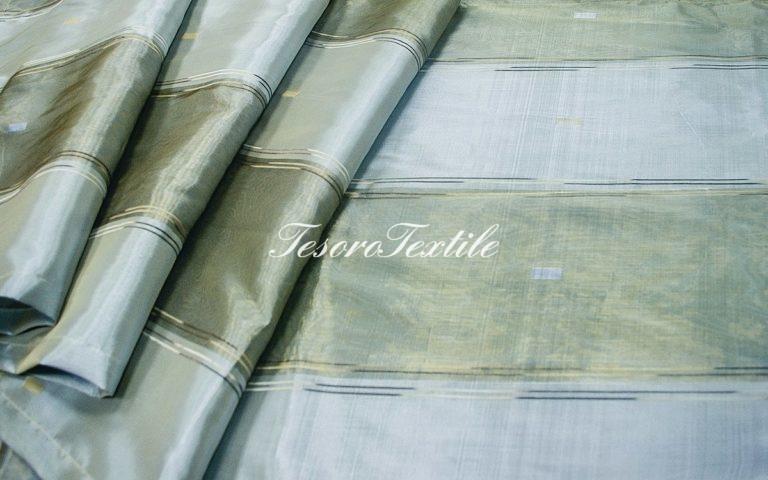 Портьерная ткань CASA DEL VELO цвет серо-голубой
