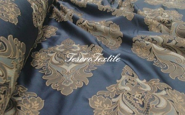 Портьерная ткань JARDIN цвет синий