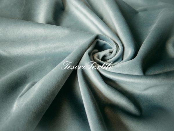 Ткань для штор Бархат GELIN GARDEN цвет серо-бирюзовый
