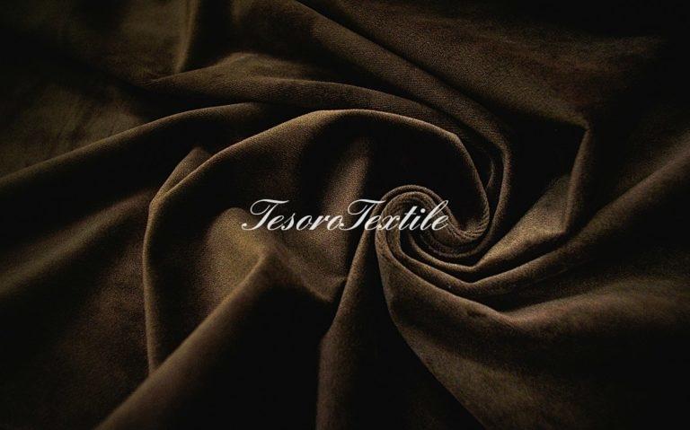 Ткань для штор Бархат VELOURS цвет темный шоколад
