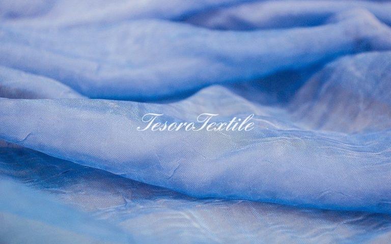 Ткань для штор Органза CASA DEL VELO цвет ярко-голубой
