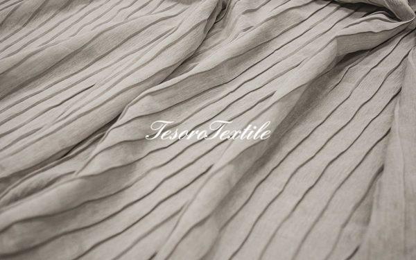 Ткань для штор Полувуаль FIORI цвет серый