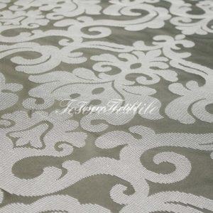 Ткань для штор Жаккард ILLUSTRE цвет серый с белым