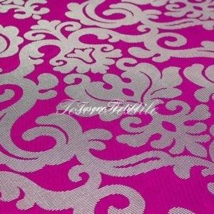 Ткань для штор Жаккард ILLUSTRE цвет фуксия