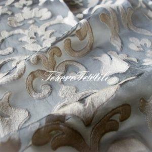 Ткань для штор Вуаль LOUIS цвет золотистый вензель