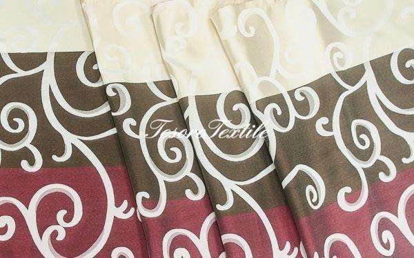 Портьерная ткань CASA DEL VELO цвет мультиколор бордовый