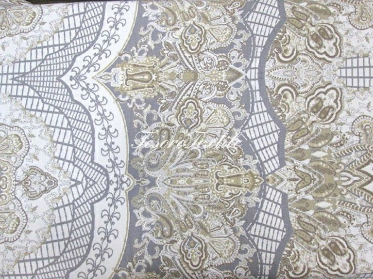 Ткань для штор Жаккард SCANDINA цвет серо-бежевый