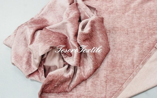 Ткань для штор Атлас JARDIN цвет розовый