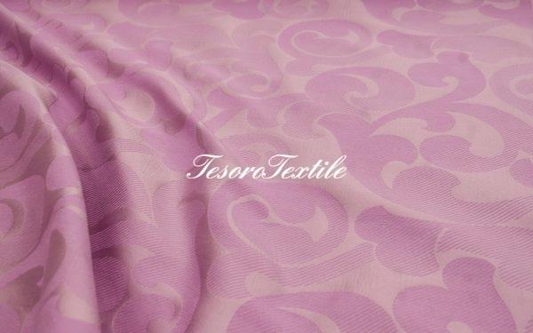 Ткань для штор Жаккард ILLUSTRE цвет фиолетовый с узором