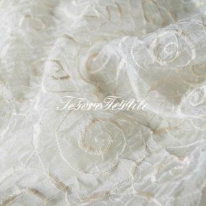 Ткань для штор Органза CASA DEL VELO цвет молочный