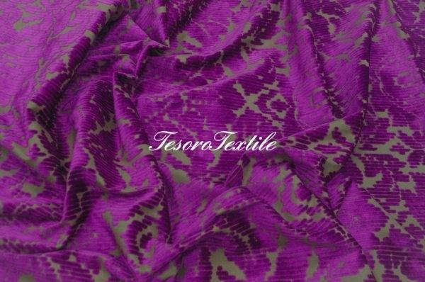Ткань для штор Пан-бархат ILLUSTRE цвет фуксия