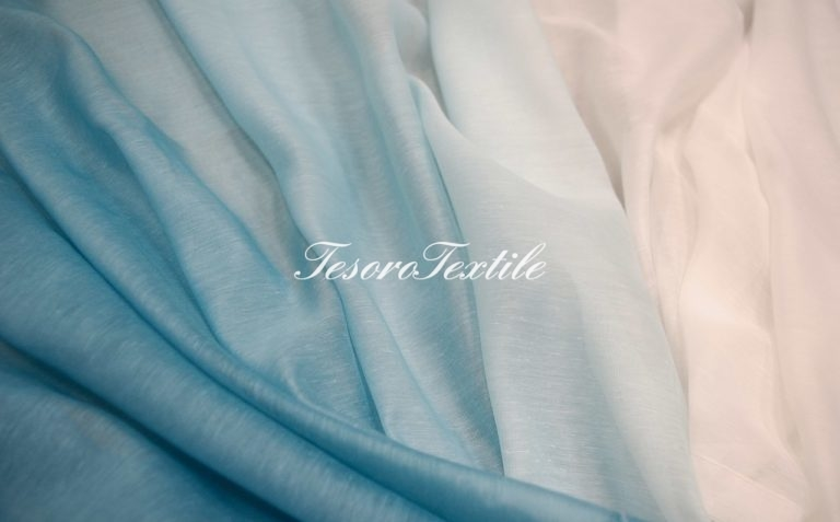 Ткань для штор Вуаль GELIN GARDEN цвет 8S -бирюзовый