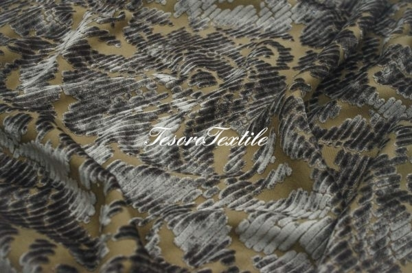 Ткань для штор Пан-бархат ILLUSTRE цвет серый