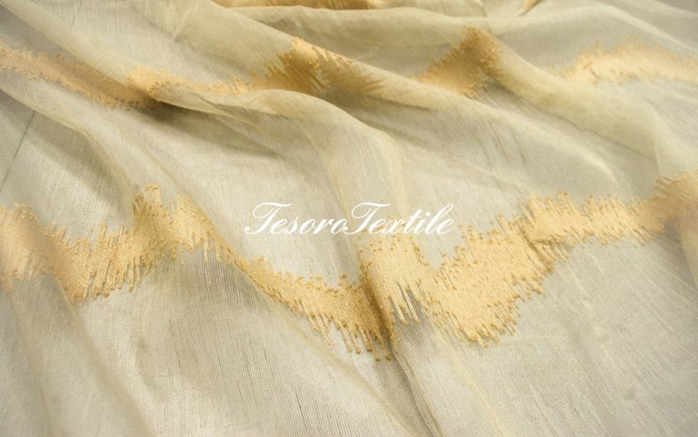 Ткань для штор Вуаль LOUIS цвет карамельный