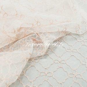 Ткань для штор Вуаль CASA DEL VELO цвет белый с розовым
