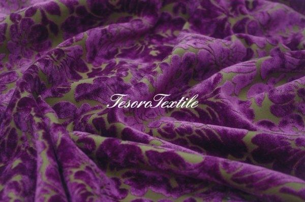 Ткань для штор Пан-бархат ILLUSTRE цвет фиолетовый