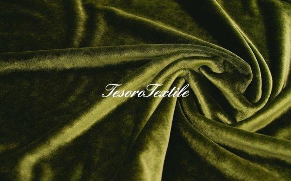 Ткань для штор Бархат SCANDINA цвет зеленый