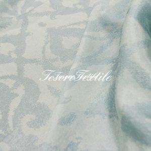 Ткань для штор Органза lEAF & FLOWER цвет голубой