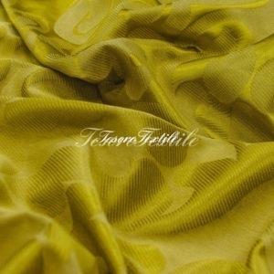 Ткань для штор Жаккард ILLUSTRE цвет золотистый с узором