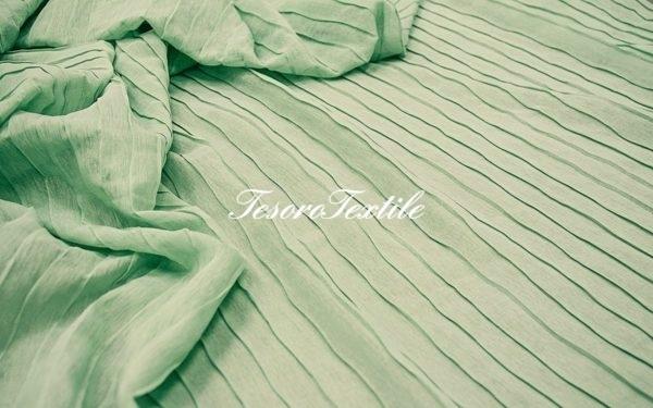 Ткань для штор Полувуаль FIORI цвет светло-зеленый