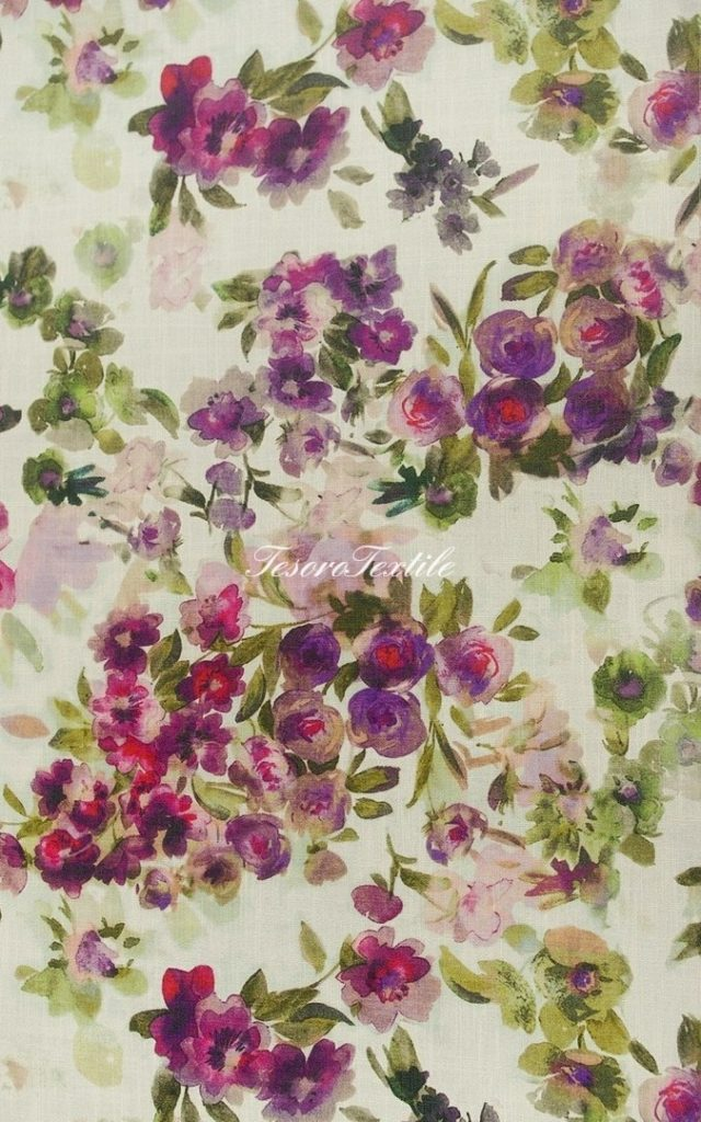 Портьерная ткань SCANDINA цвет розовый