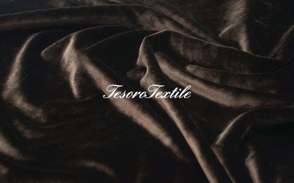 Ткань для штор Бархат SCANDINA цвет коричневый