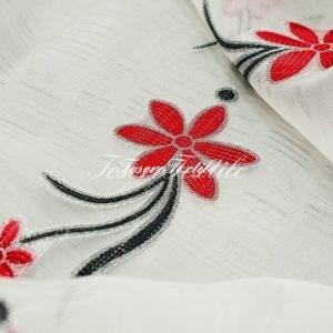 Ткань для штор Вуаль CASA DEL VELO цвет черно-красный